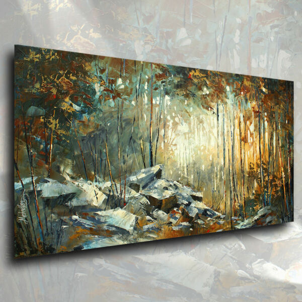 Landscape Art Original Palette Knife Painting Contemporary DECOR Mix Lang Unique