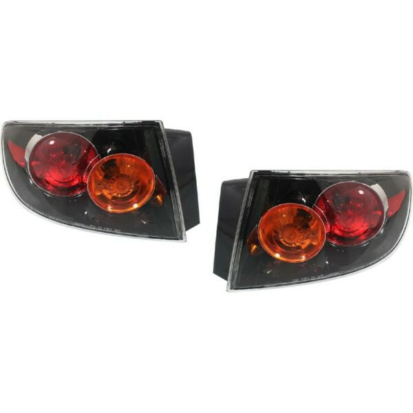 Pair Tail Light for 2004-2006 Mazda 3 LH RH Outer Models w Sport Bumper