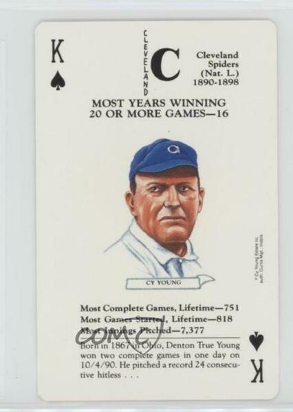1991 Baseball Legends Playing Cards Box Set #KS Cy Young Cleveland Spiders Card