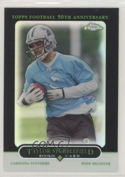 2005 Topps Chrome Black Refractor100 #200 Taylor Stubblefield Carolina Panthers
