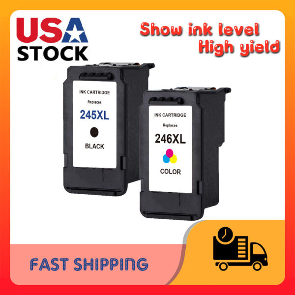Black & Color PG 245XL & CL-246XL Ink Cartridge for Canon PIXMA MG2922 MG3022