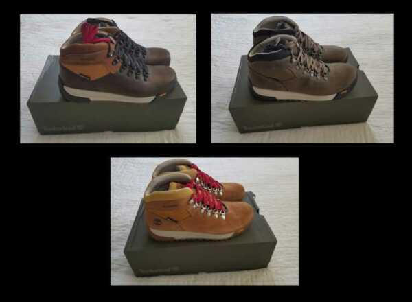 NEW MEN#x27;S TIMBERLAND FOR J CREW GT SCRAMBLE HIKING BOOTS IN BROWN OLIVE TAN $99.99