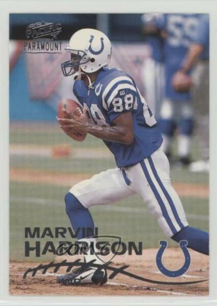 1998 Pacific Paramount Silver #99 Marvin Harrison Indianapolis Colts Card