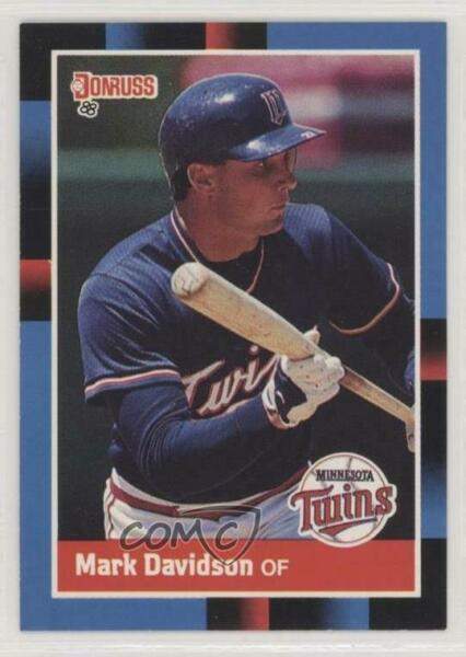 1988 Donruss #519 Mark Davidson Minnesota Twins RC Rookie Baseball Card