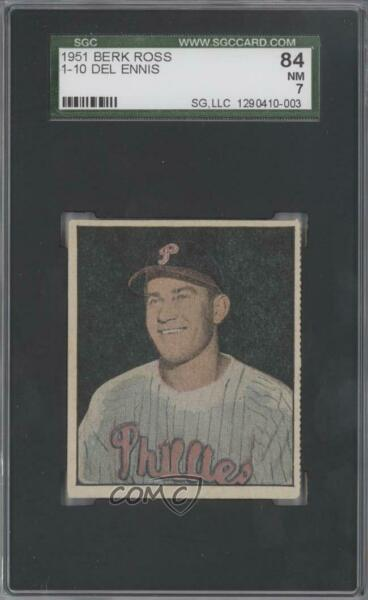 1951 Berk Ross Hit Parade of Champions Del Ennis #1-10 SGC 84
