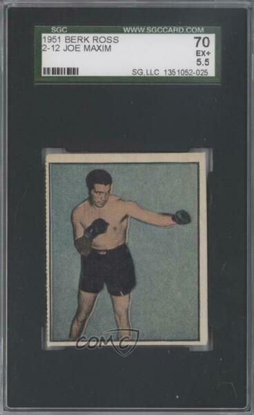 1951 Berk Ross Hit Parade of Champions Joe Maxim #2-12 SGC 70