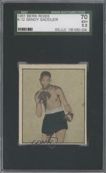 1951 Berk Ross Hit Parade of Champions Sandy Saddler #4-12 SGC 70
