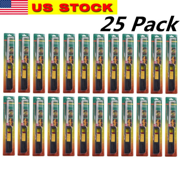 25PK BBQ Grill Lighter Refillable Butane Gas Candle Fireplace Kitchen Stove Long
