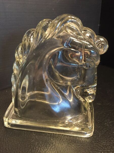 B30 Vintage Art Deco Glass Horse Head Bookend Federal REPLACEMENT?
