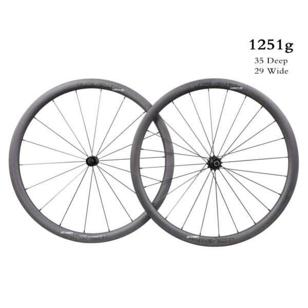 ICAN 2019 AERO Series 3540505586 Carbon Straight Pull Road Bike Wheelset