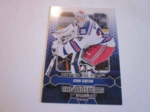 JOHN GIBSON SIGNED AUTOGRAPHED 2013 ITG BETWEEN THE PIPES CARD-DUCKS
