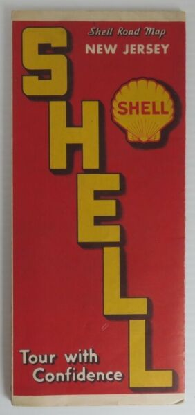 1930 SHELL NEW JERSEY ROAD MAP  INV21918