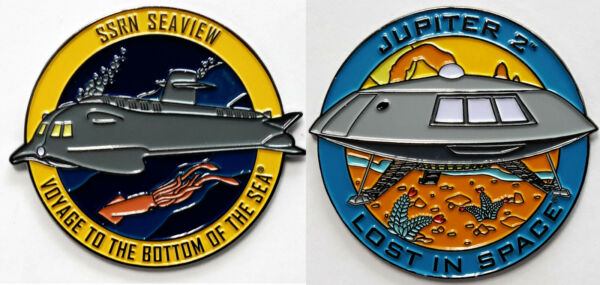 Irwin Allen Deluxe Pin Collection Lost in Space Voyage Bottom Sea—gt; Your Choice $11.99