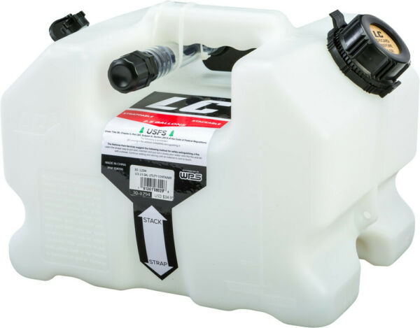 LC 2.5 Gallon Utility Container - White Can Fluids Stack able Snow-Bike Off-Road