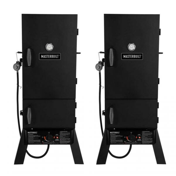 Masterbuilt 30-Inch Outdoor Vertical Propane Gas BBQ Meat Smoker Grill (2 Pack)