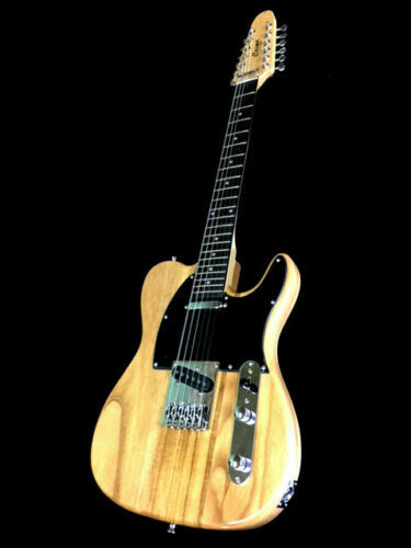 NEW 6 STRING TELE STYLE BURL MAPLE SOLID BODY ELECTRIC GUITAR