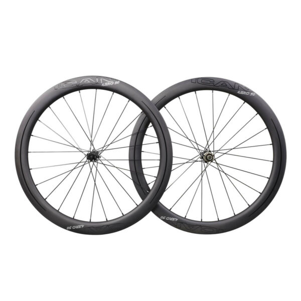 ICAN AERO 50 Carbon Center Lock 6 Bolts Disc Wheelset 1430g Sapim CX-Ray Spoke