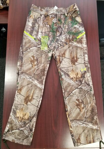 UA Under Armour Realtree Camo Scent Control Men#x27;s Fleece Hunting Pants ColdGear