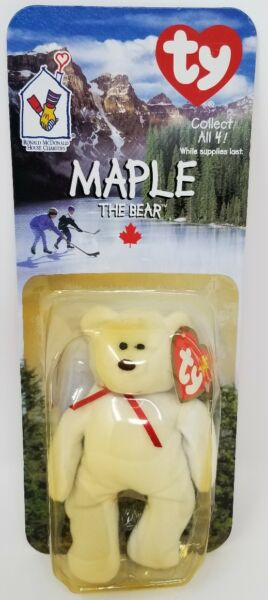 MAPLE THE BEAR -1996 MCDONALDS TY BEANIE BABY   MISSING   CANADIAN FLAG