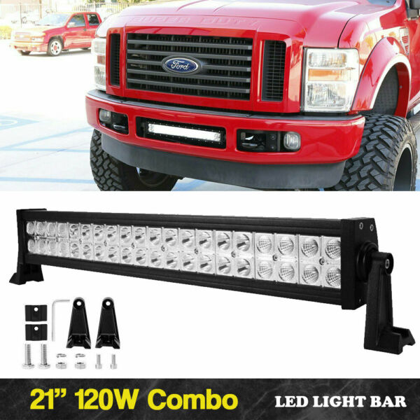 280W  Curved LED Light Bar 24inch Spot Flood Beam For Jeep Truck 4WD ATV Boat