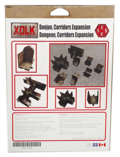 Xolk Dungeon Corridors Expansion 1 Roleplaying game Scenery Kit 28mm Scale