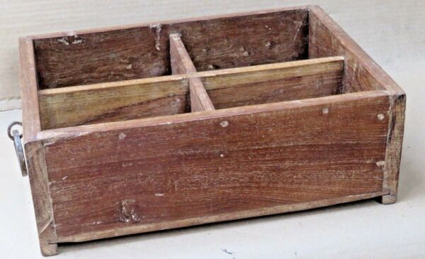 Wine Bottle Caddies Holders Wood Compartment Crates Basket shopper farmer tray 4