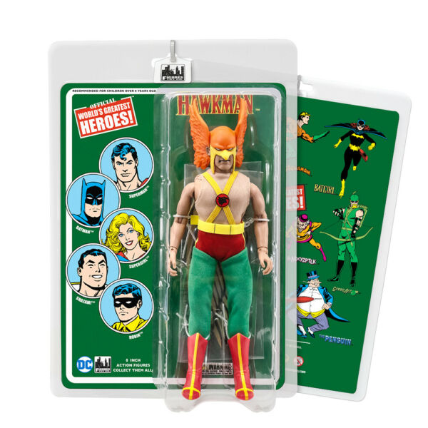 DC Comics 8 Inch Action Figures with Retro Cards: Hawkman