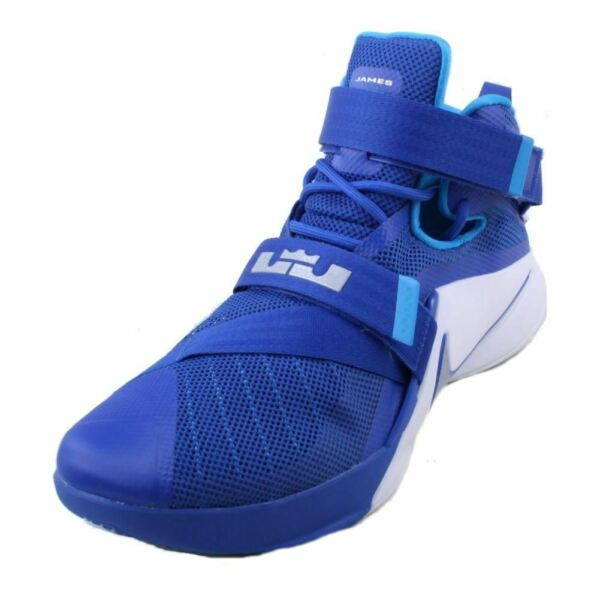 Nike Lebron Soldier IX TB Mens Gym Royal/Silver/White Athletic Sneakers