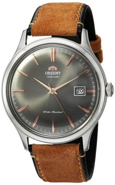 Orient Mens Bambino Ver. 4 Automatic Stainless Steel & Leather Watch FAC08003A0