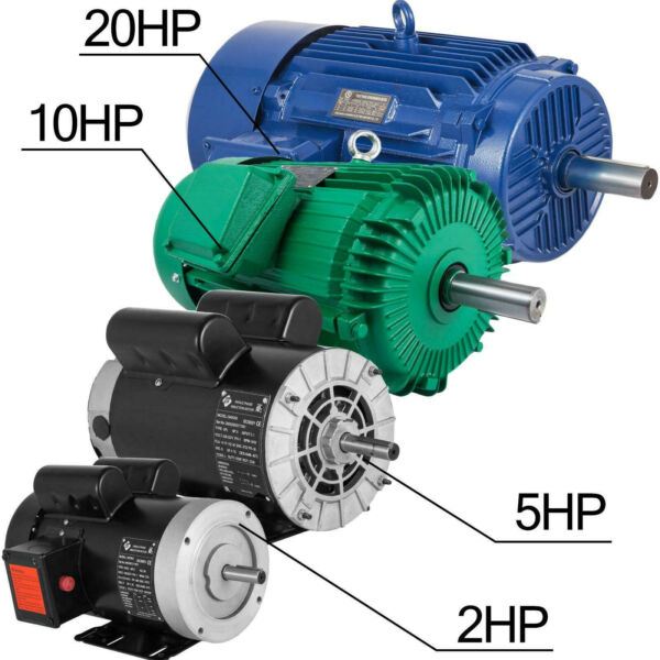 Electric Motor 1 20HP 1Phase 3Phase 5 8quot;shaft Genaral Rigid base Outdoors 256T $199.90
