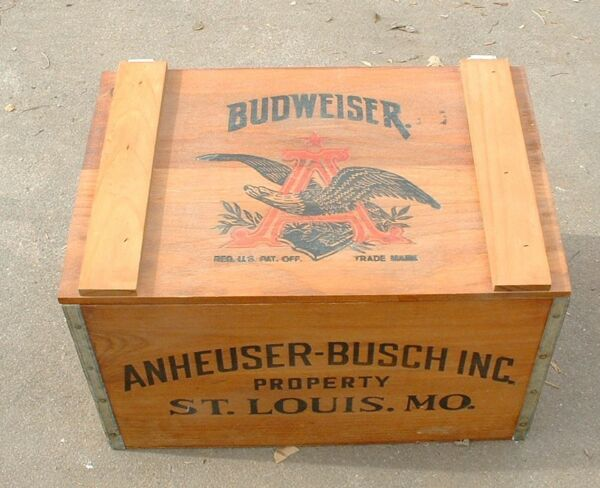 Budweiser Wood  Wooden Box Beer Crate Reproduction 1876 - 1976