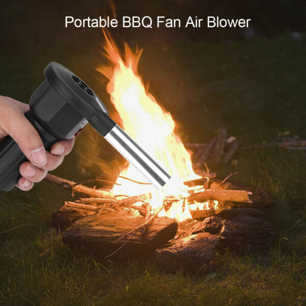 Portable BBQ Air Blower Fan Charcoal Grill Barbecue Outdoor Campfire Fireplace