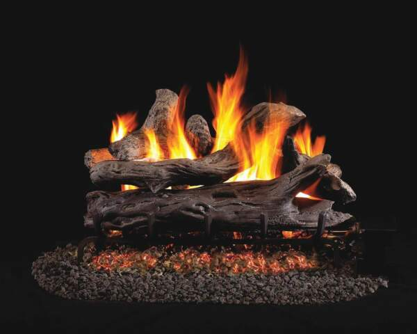 Vented Gas Fireplace Log Set - Real Fyre Coastal Driftwood - 4 Logs