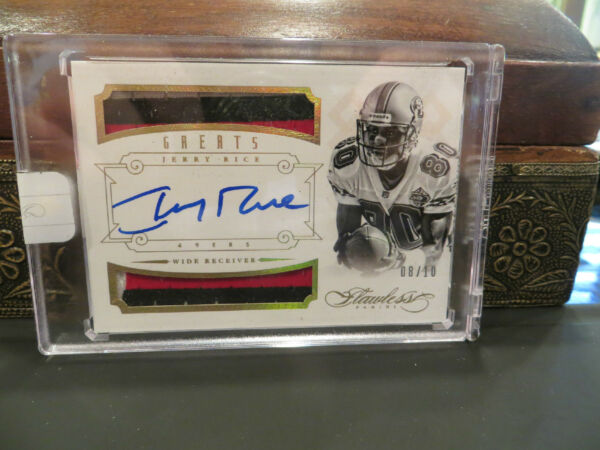 Panini Flawless Gold On Card Autograph Jersey 49ers Jerry Rice  0810  2014
