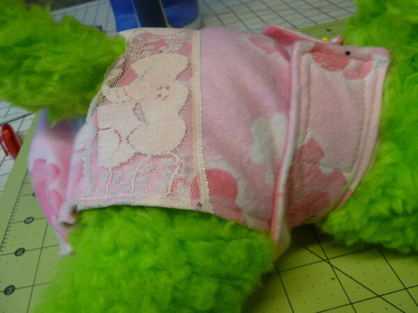 Pink Elephant Flannel Dog Female Diaper Panty Adjustable Carols Crate Covers $9.86