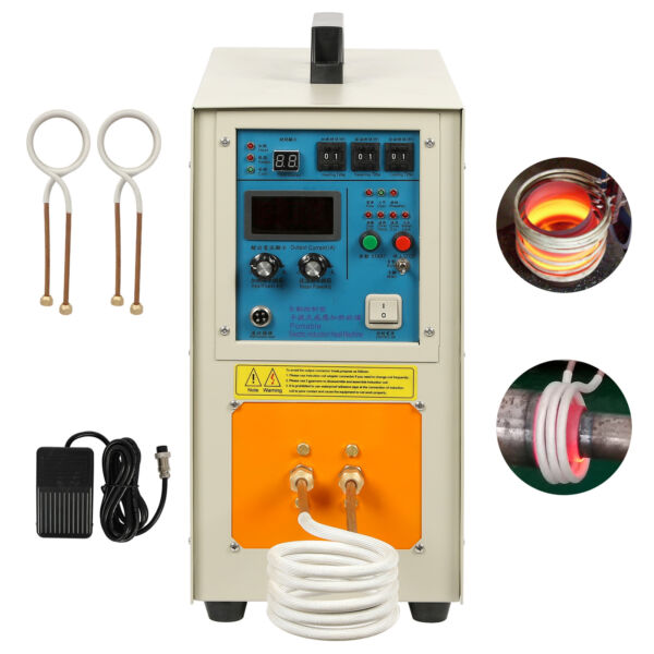 15 KW 30-100 KHz 220V High Frequency Induction Heater Furnace 2200 ℃ (3992 ℉)