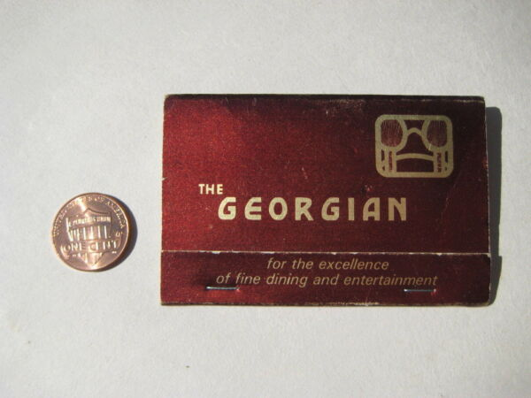 vintage The Georgian Lake George NY New York hotel restaurant MATCHBOOK 1960's