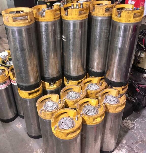 ONE 1 YELLOW 5 Gal Ball Lock Cornelius quot;Cornyquot; Soda Keg w 5 Extra O RINGS $33.99