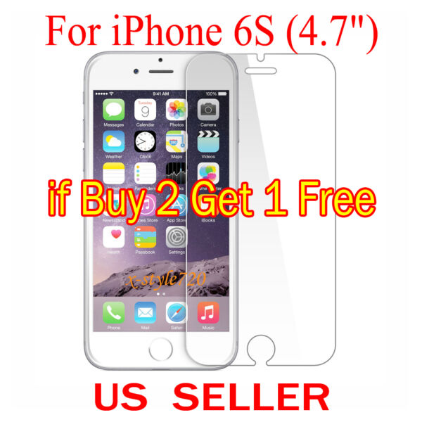 1x Clear LCD Screen Protector Guard Cover Shield Film For Apple iPhone 6S (4.7