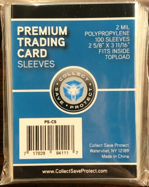 10000 CSP Premium SOFT PENNY REGULAR CARD SLEEVES fits inside 3x4 TOPOADERS
