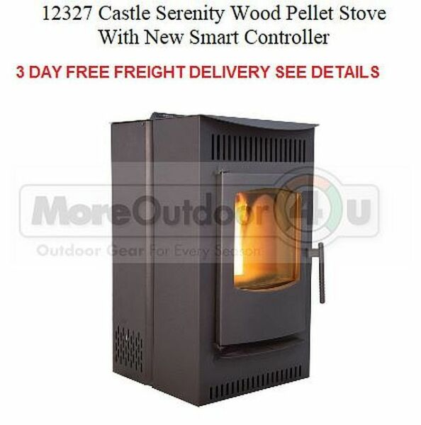 12327 NEW Castle#x27;s Serenity Wood Pellet Stove With Smart Controller $1199.99