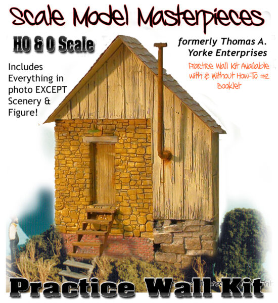 Scale Model MasterpiecesYorke Practice Wall with Details Kit HO A1