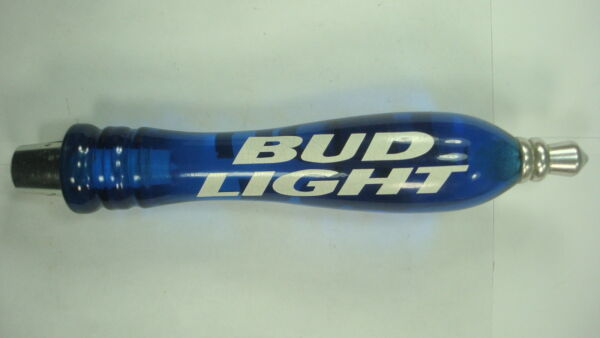 Bud Light Beer Tap Handel Blue Chrome Keg Brewery Man Cave Bar About 7.25 Inches
