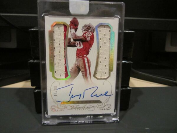 Panini Flawless Gold On Card Autograph Jersey 49ers Jerry Rice 0610  2015