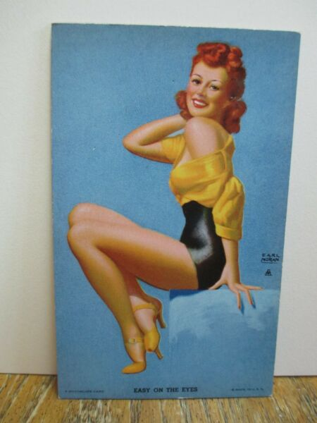 "Earl Moran Mutoscope Arcade Pin-Up Card ""Easy On The Eyes"