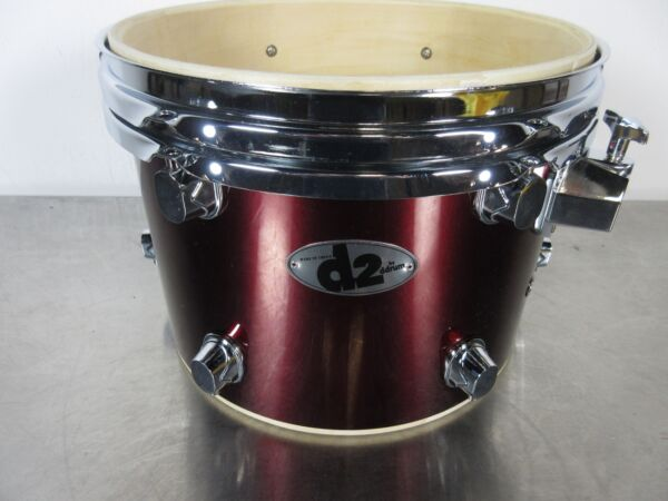 Ddrum D2 Rack Tom 12 X 9quot; Blood Red Chrome Hardware Basswood Shell $20.00