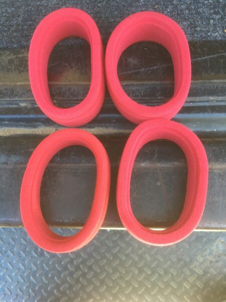 18 Buggy Grooved Foam Tire Insert Odonnell Racing AKA Racing Red  (4) - Soft