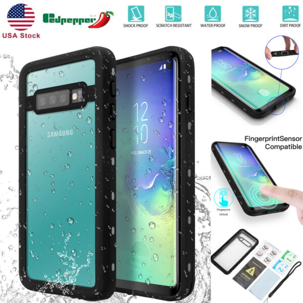 For Samsung Note 9 S10 Plus Full Clear Waterproof Shockproof Heavy Cover Case $13.99