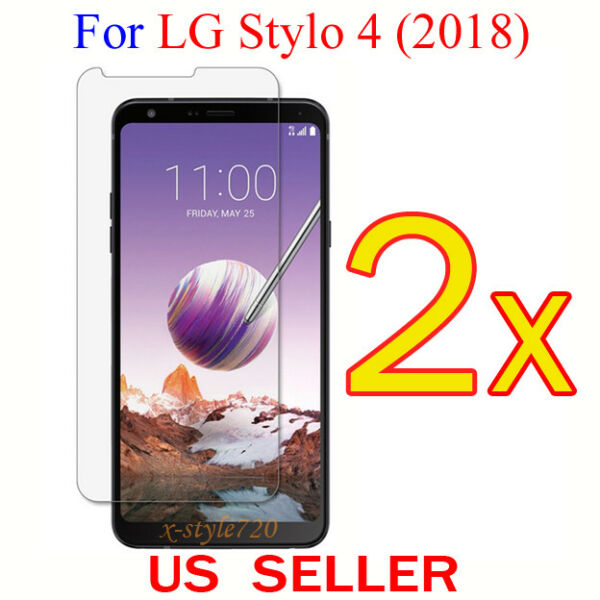 2x Clear LCD Screen Protector Guard Cover Film For LG Stylo 4 (2018)