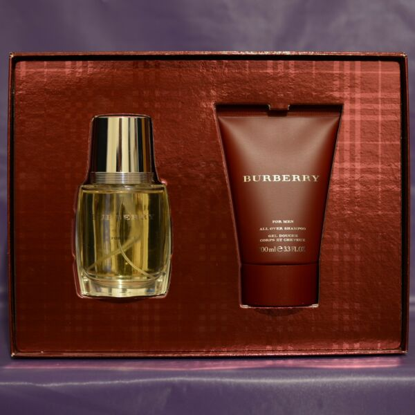 Burberry Set Mens EDT 1.7 oz 50 ml 6A181D amp; Shampoo 3.3 oz 100 ml 6C135A 1376F $70.00